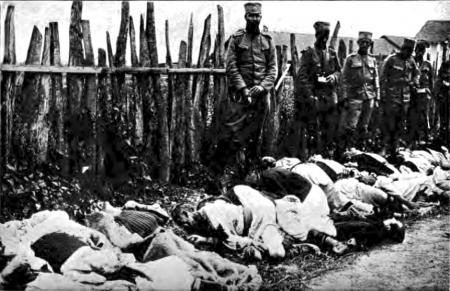Loznica, 1914. Țărani masacrați de trupele austro-ungare.