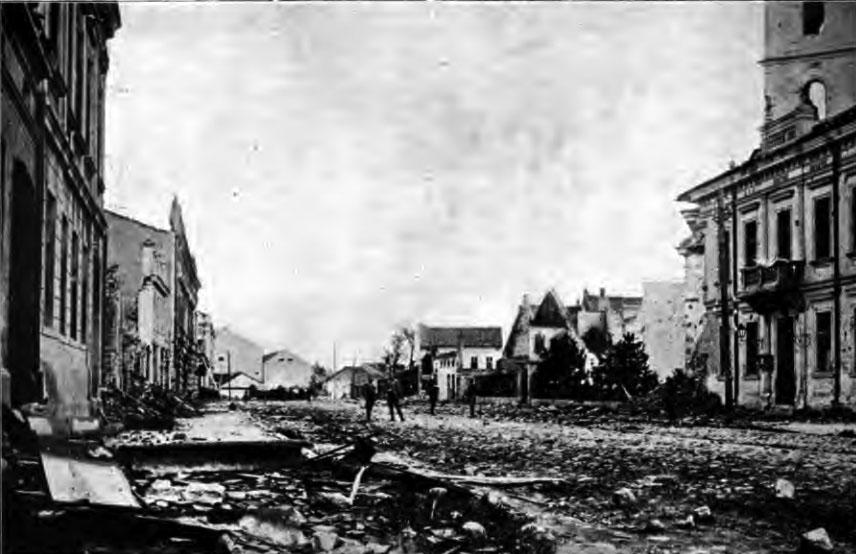 Šabac, 1914. Urmările bombardamentului din octombrie.